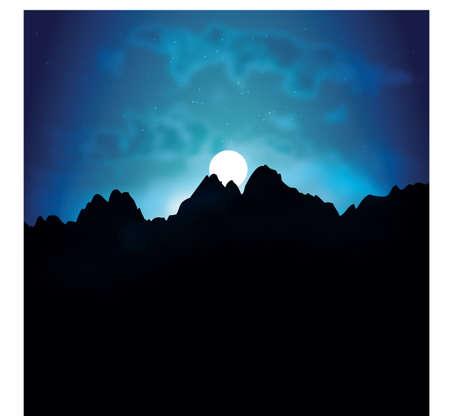 night: night view Illustration