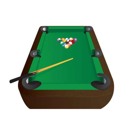 on the table: billiard table Illustration