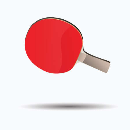 on the table: table tennis paddle