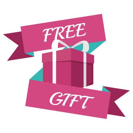 free gift: free gift banner Illustration