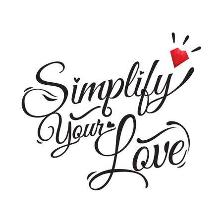 simplify: love greeting card