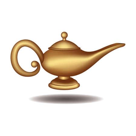 lampara magica: lámpara mágica Vectores