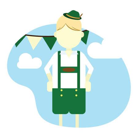 lederhosen: boy wearing lederhosen