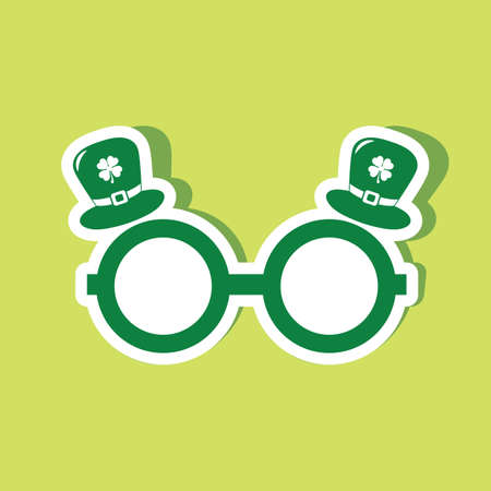 specs: leprechaun specs and hat