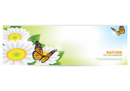 copyspaces: nature banner with butterflies