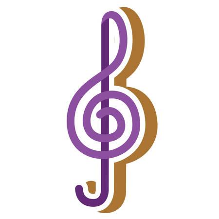 treble: treble clef note Illustration