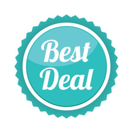 the best: best deal sale label