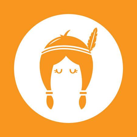 headband: tribal woman wearing feather headband