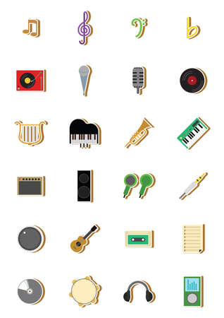 earpiece: set of musical equipments