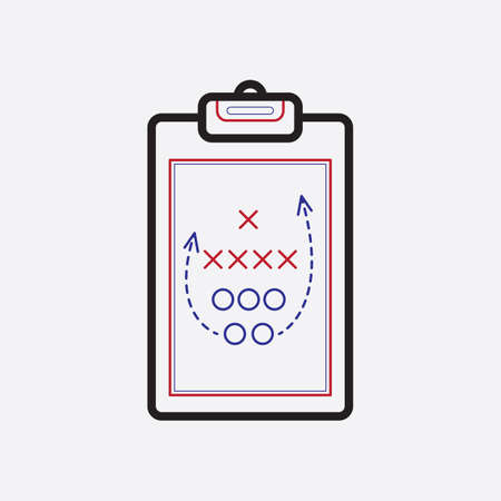 tactic: game plan on clipboard Illustration