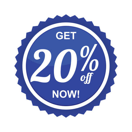 twenty: twenty percent offer label