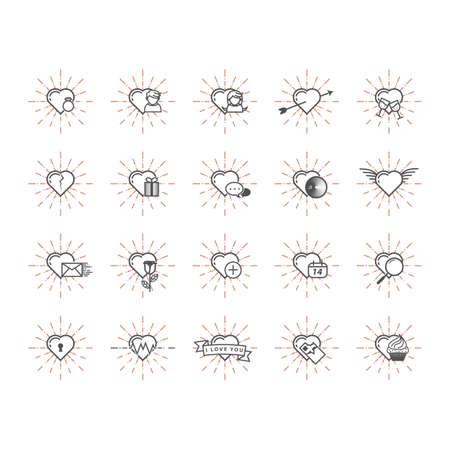 conjunto de iconos del corazón