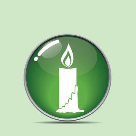 x   mas: candle button