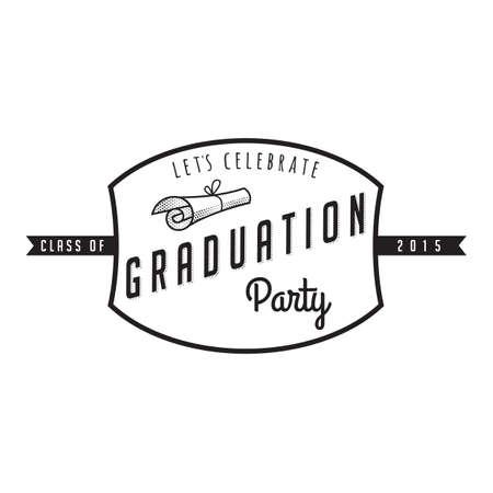 lets party: graduation label Illustration