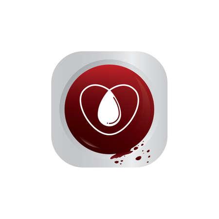 drop in: blood drop in heart Illustration