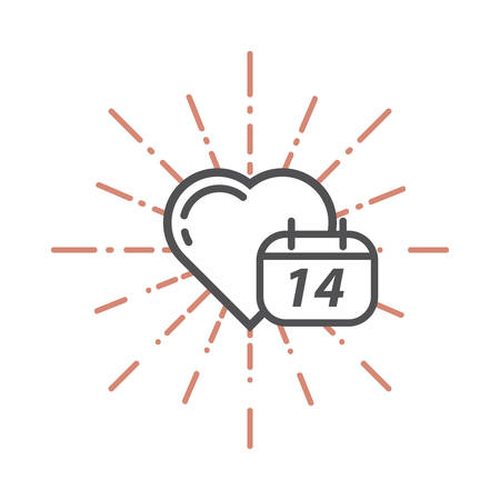 14 feb: heart and a calendar
