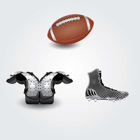 safety shoes: set of american football icons