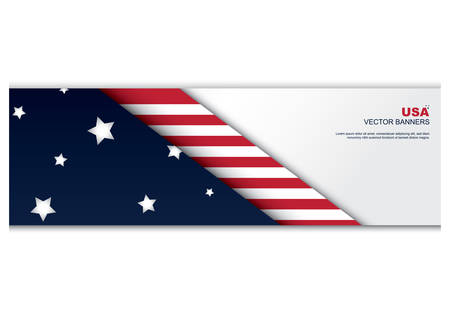 country flags: american flag banner