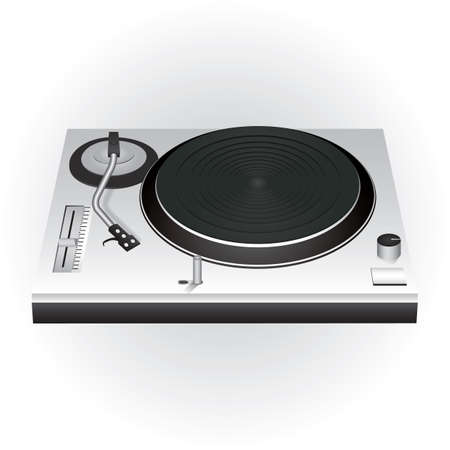 turntable: dj mixer turntable Illustration