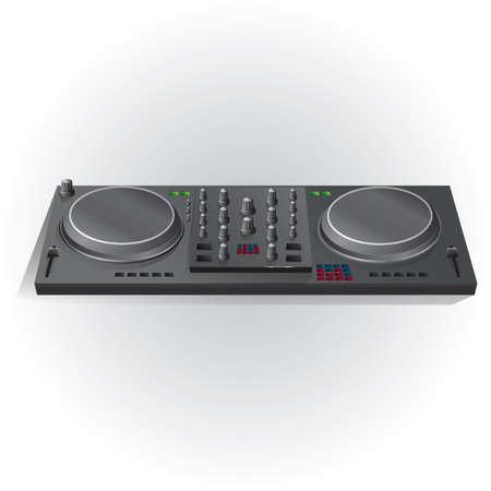 turntable: dj mixer turntable Illustration