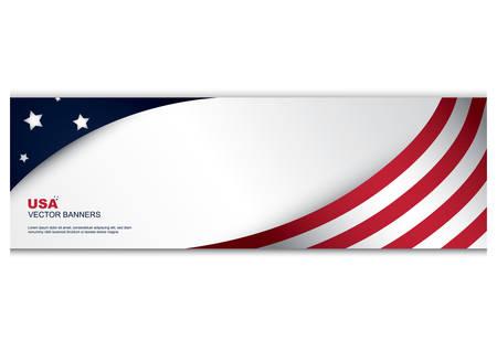 bannière de drapeau américain Vecteurs
