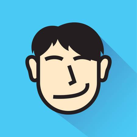 smirking: smirking man Illustration