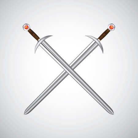 crossed swords Vektorové ilustrace