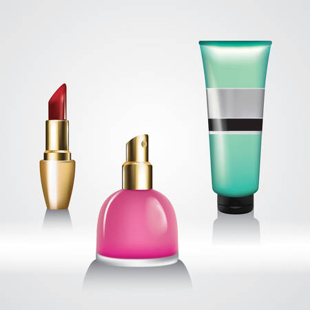 face wash: set of cosmetics Illustration
