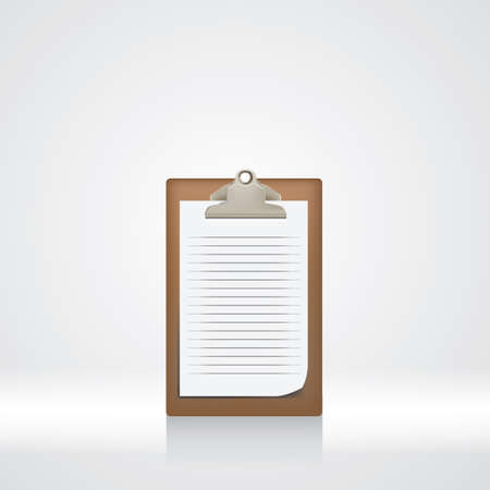 ruled: paper on clipboard