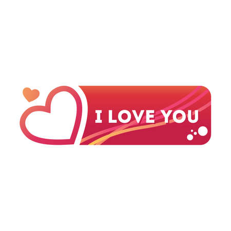 i label: i love u sticker