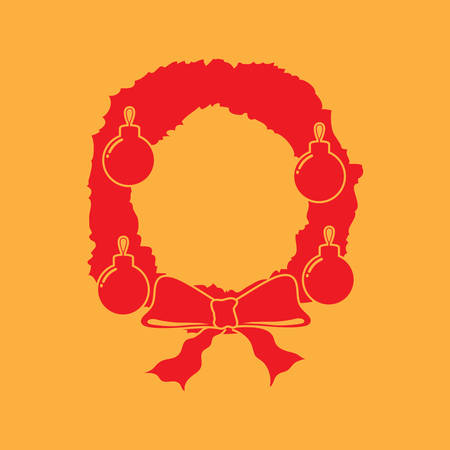 holiday celebrations: christmas wreath Illustration