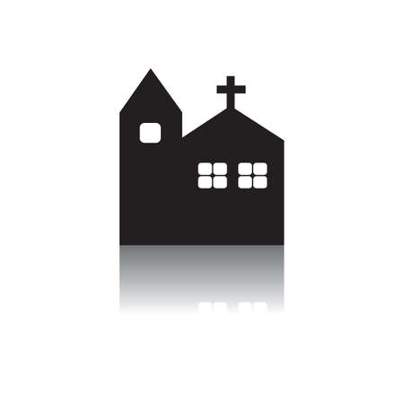 christian halloween: church Illustration