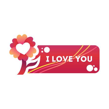 i label: i love you sticker