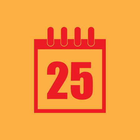 december 25th: christmas date on calendar