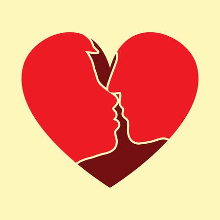 kissing: couple kissing