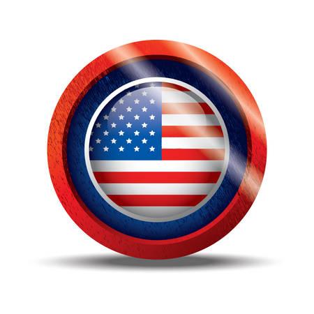 flag button: usa flag button