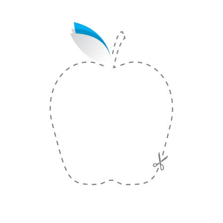 cut paper: paper cut out of apple