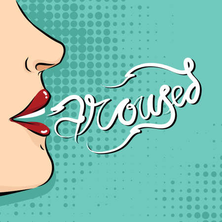 arouse: poster with word aroused Illustration