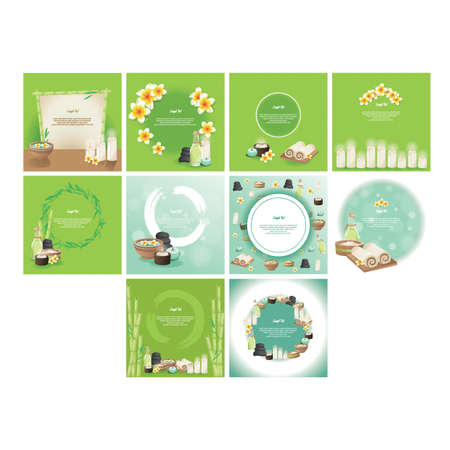 themed: set of spa themed template Illustration
