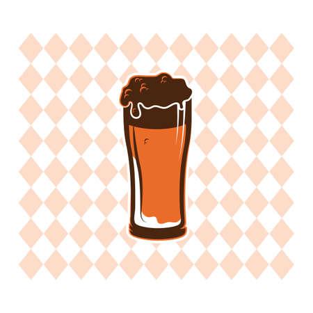 beers: glass of beer Illustration