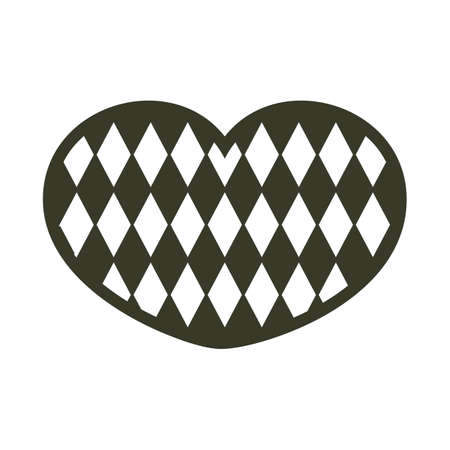 checkered pattern: heart shape with checkered pattern Illustration