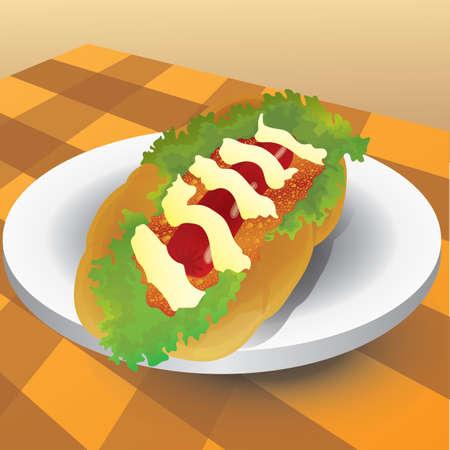 hot: hot dog Illustration