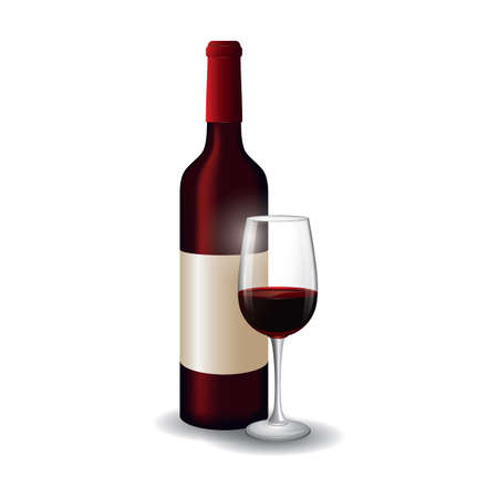 booze: wine bottle and glass