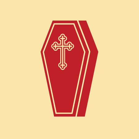 trumna: Trumna z krzyżem
