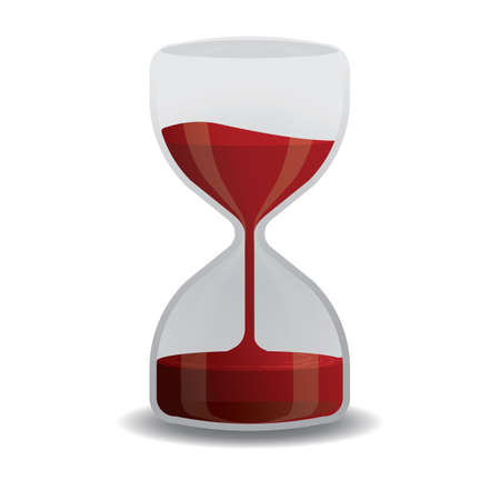 hour glass: blood in hour glass