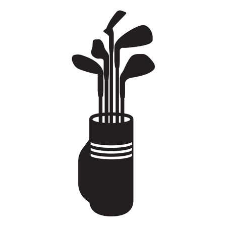 golf bag: golf bag with clubs Illustration