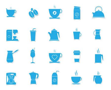 percolator: collection of coffee related objects