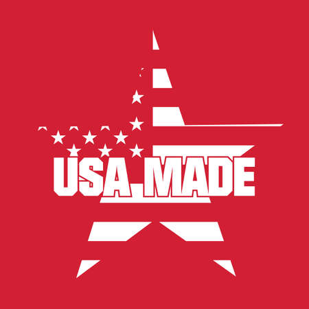 made: made in usa label Illustration