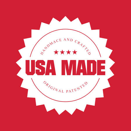 made in usa: made in usa label Illustration