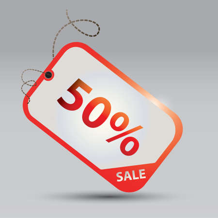 50: 50 percent offer tag